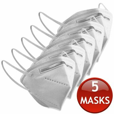 AU29.95 • Buy 5 X KN95 N95 FFP2 FACE MASK PARTICULATE DISPOSABLE ANTI DUST MEDICAL SURGICAL