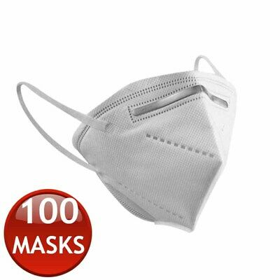 AU394.95 • Buy 100 X KN95 N95 FFP2 FACE MASK PARTICULATE DISPOSABLE ANTI DUST MEDICAL SURGICAL
