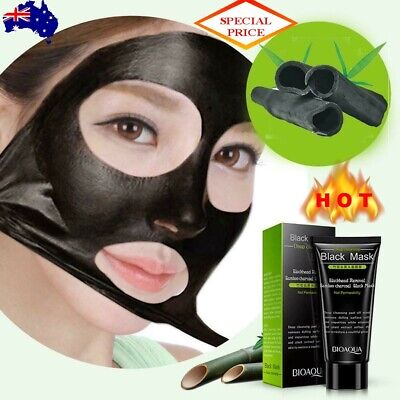 AU13.49 • Buy Bamboo Charcoal Blackhead Remover Deep Clean Peel Off Mud Face Nose Mask