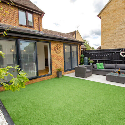 £59.95 • Buy Artificial Grass Top Quality Garden Green Lawn Realistic Turf 2m Wide 15mm Depth