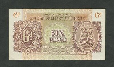 £85 • Buy BRITISH MILITARY AUTHORITY  6d  WWII  Krause M1  Uncirculated  Banknotes