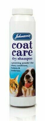 Johnsons Coat Care Dry Shampoo For Cats & Dogs 85G,powder,easy To Use,freshens. • 6.95£
