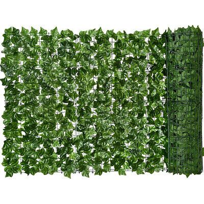 3m X 1m  Artificial Ivy Leaf Hedge Roll Privacy Fence Screen Wall Landscaping  • 18.99£