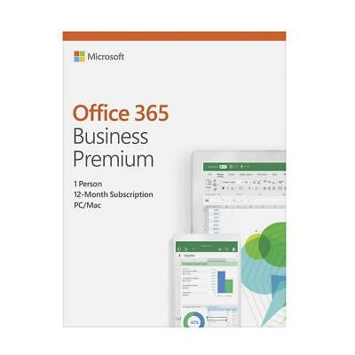 AU236.50 • Buy Microsoft Office 365 2019 Business Premium 1 Year Licence - Medialess Retail