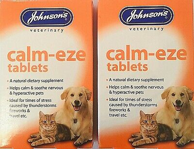 £7.99 • Buy Johnson's Calm-eze 36 X2 Twin Tablets Helps Calm & Soothe Dogs, Cats Veterinary