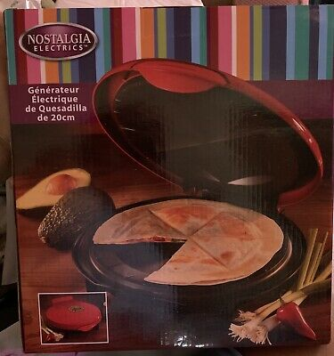 $10.99 • Buy Nostalgia Electrics 8  Electric Quesadilla Maker Mexican Food Tortilla