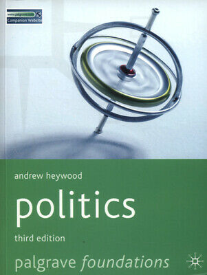 Palgrave Foundations: Politics By Andrew Heywood (Paperback) Fast And FREE P & P • 3.36£