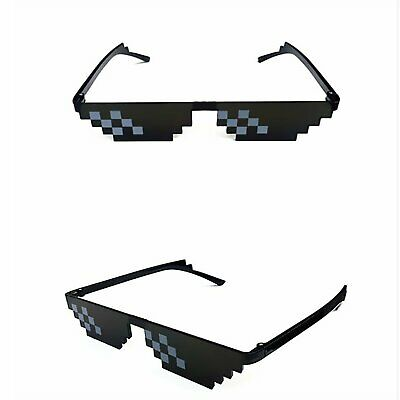 AU8.99 • Buy Thug Life Sunglasses Deal With It 8 Bit Pixel Glasses Mlg Cool Fashion Goggles A
