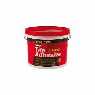 £9.75 • Buy Tile Adhesive And Grout  Bathroom Kitchen & Shower Brilliant White 1.5kg