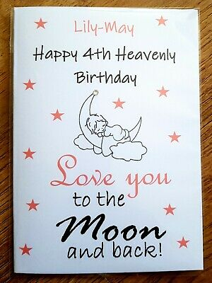 £3.90 • Buy Personalised Heavenly Birthday Card 💗 Baby Child Loss Miscarriage Remembrance