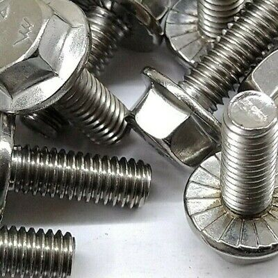 $5.55 • Buy (10) M6-1.0 X 16  Metric Hex Flange Bolts STAINLESS STEEL 6mm X 16mm