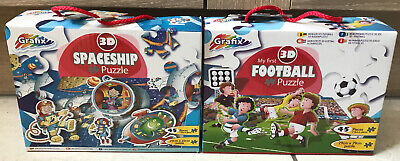 Football And Spaceship Jigsaw Puzzles 45 Pieces Bundle Of 2 Puzzles Lockdown • 12.99£