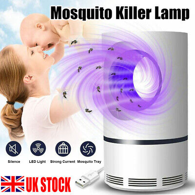 Electric Insect Mosquito Fly Killer Bug Zapper UV Indoor Pest Catcher Trap Lamp • 6.55£
