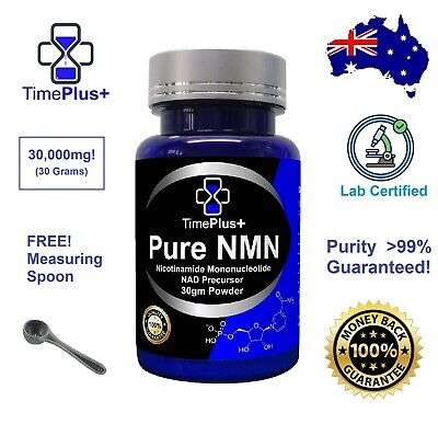 AU198.50 • Buy Pure NMN Nicotinamide Mononucleotide Powder 30g Certified 99% Sirtuins NAD+