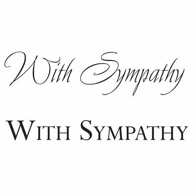 WITH SYMPATHY - Mini Clear Magic Stamps - Woodware • 2.03£