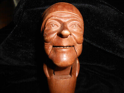 $50 • Buy Vintage Pirate With Head Scark Hand Carved Wooden Nutcracker