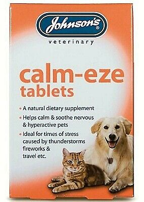 £4.95 • Buy Johnson's Calm-eze Tablets (36)helps Calm & Soothe Dogs, Cats Veterinary