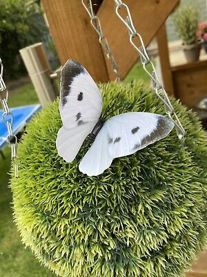English Country Garden Butterfly Decorations On Sticks (indoor/outdoor)pack Of 4 • 2.99£