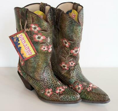 $79.95 • Buy Durango Crush Flower Snakeskin Brown Western Cowboy Boots Size 8.5 RD3564