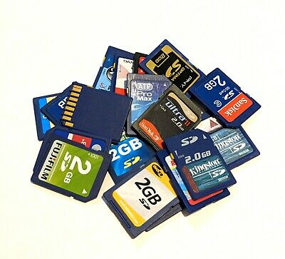 $ CDN36.90 • Buy Lot Of 10 Mixed Brand 2GB SD Cards