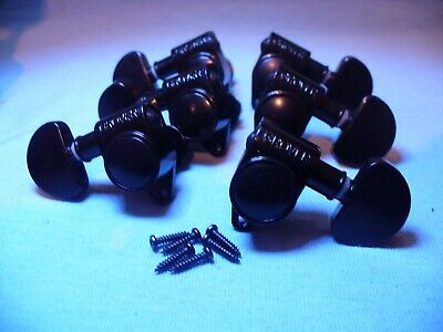 $42.95 • Buy Black Grover Tuners 3x3 Set Electric Acoustic Guitar Machine Head Tuning Pegs!