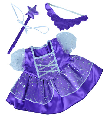 £9.29 • Buy Purple Fairy Princess Teddy Clothes 16  Outfit Fit 14  - 18  Build A Bear