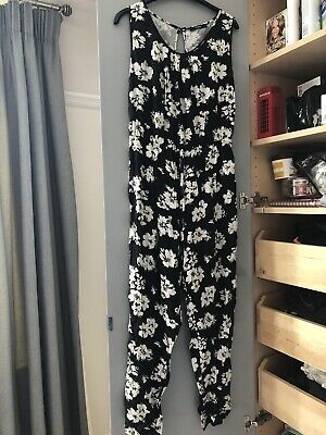£8 • Buy George Black And White Ladies Jump Suit All In One Size 12