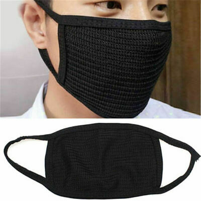 ONE Black Health Cycling Anti-Dust Cotton Mouth Face Respirator Unisex Mask  UK • 3.91£