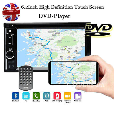 6.2INCH 2DIN Car Stereo In Dash DVD TV MP3 Player Bluetooth FM AM Radio UK STOCK • 69.99£