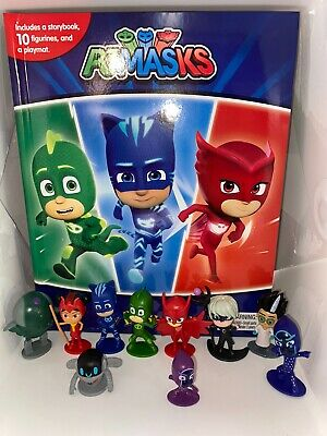 Disney Juniors Pj Masks Busy Book - 10 Figures And A Playmat Uk Stock • 11.99£