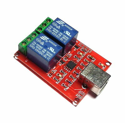 £11.80 • Buy 5V USB Relay 2 Channel Programmable Computer Control For Smart Home - UK Seller