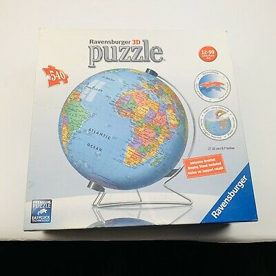 $24.99 • Buy Ravensburger 3D Puzzle Ball World Globe 540 Pieces Display Stand INCLUDED