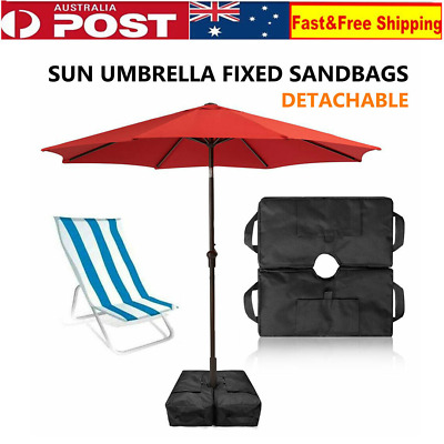 AU15.83 • Buy Weight Sand Bag For Umbrella Base Stand 2 Detachable Bags Square Protect Outdoor