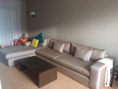 £1750 • Buy Corner Sofa With Chaise End, Designer's Guild Fabric And Hardwood Beech Frame