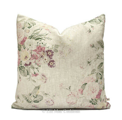 Cabbages And Roses Constance Linen Multi Designer Fabric Cushion Cover • 35.99£