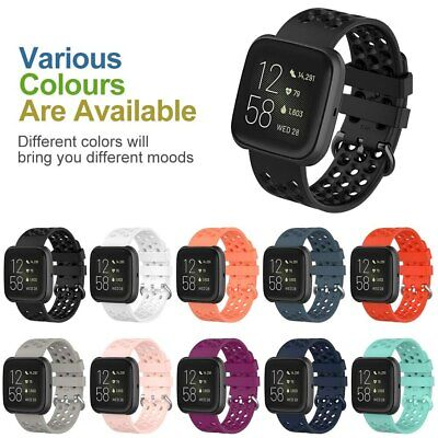 $ CDN9.27 • Buy Sport Soft Silicone Strap Bracelet For Fitbit Versa 2/1 Versa Lite Rubber Band