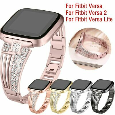 $ CDN17.90 • Buy Luxury Watch Band For Fitbit Versa 2/ Versa Lite Alloy Metal Strap Bracelet