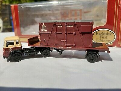 Efe Trucks 1/76, Bedford TK Tractor And Single Axle Trailer With Container Load. • 13.95£