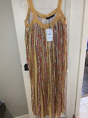 $35 • Buy Zara Womens Long Dress Size Large