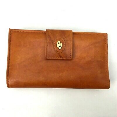 $15 • Buy Vintage Amity Womens Wallet Brown Cowhide Leather Billfold Coin Purse