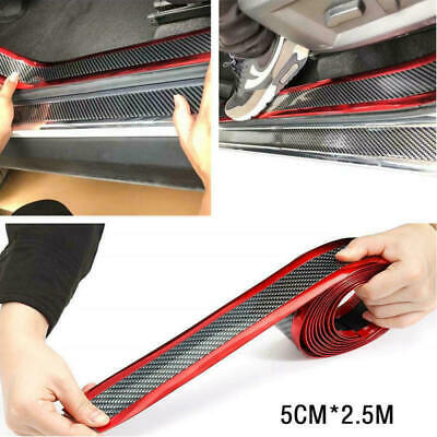 $9.90 • Buy Car Sticker 5D Carbon Fiber Molding Door Sill Rubber Protector Parts Accessories