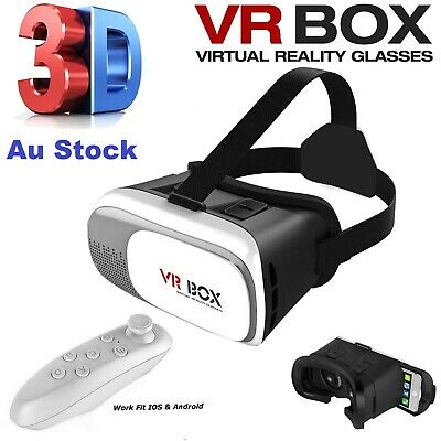 AU54.99 • Buy NEW VR BOX Virtual Reality Glasses 3D VR Headset For Android IOS Iphone Samsung