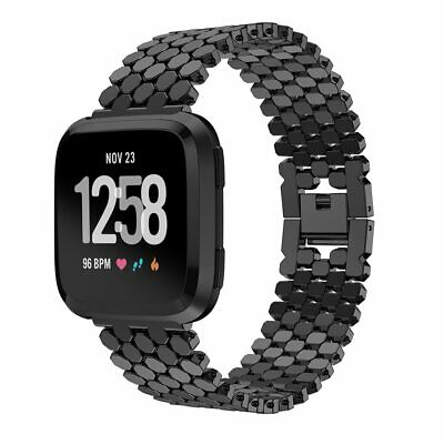 $ CDN13.34 • Buy Alloy Fish Scale Jewelry Buckle Strap For Fitbit Versa 2/ Versa Lite Watch Band