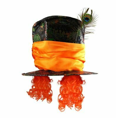 Adults Mad Hat Top Hatter Unisex Fancy Dress Party Fairy Tale Hat Accessory • 9.25£