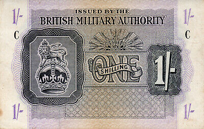 £24.95 • Buy 1943 Great Britain One Shilling British Military Authority Banknote