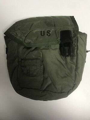 $ CDN6.05 • Buy U.S. MILITARY ISSUED 2 QT CANTEEN Pouch W/ Belt Clips  - NO STRAP