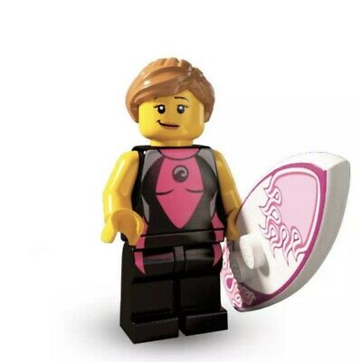 Lego Minifigures Series 4 Surfer Girl New In Pack (8804) • 7.99£