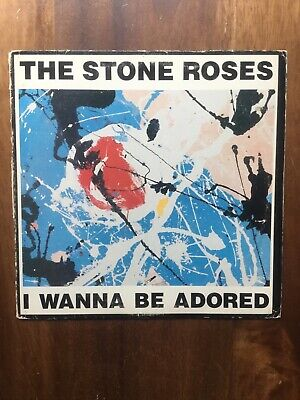 The Stone Roses - I Wanna Be Adored 12  1989 Original USA Issue • 34.73£