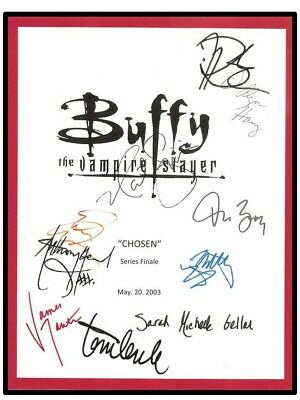 $14.95 • Buy Buffy The Vampire Slayer  Chosen  Series Finale  Signed Script Rpt