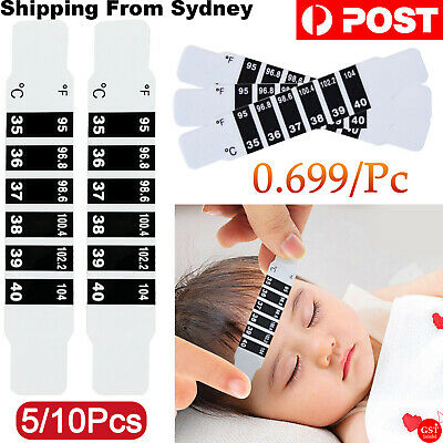 AU7.99 • Buy Forehead Fever Thermometer Strip Baby Child Adult Body Head Temperature Test AU